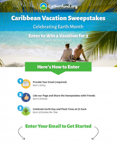 Caribbean Vacation Sweepstakes - Earth Month - rev campaign photo 041916
