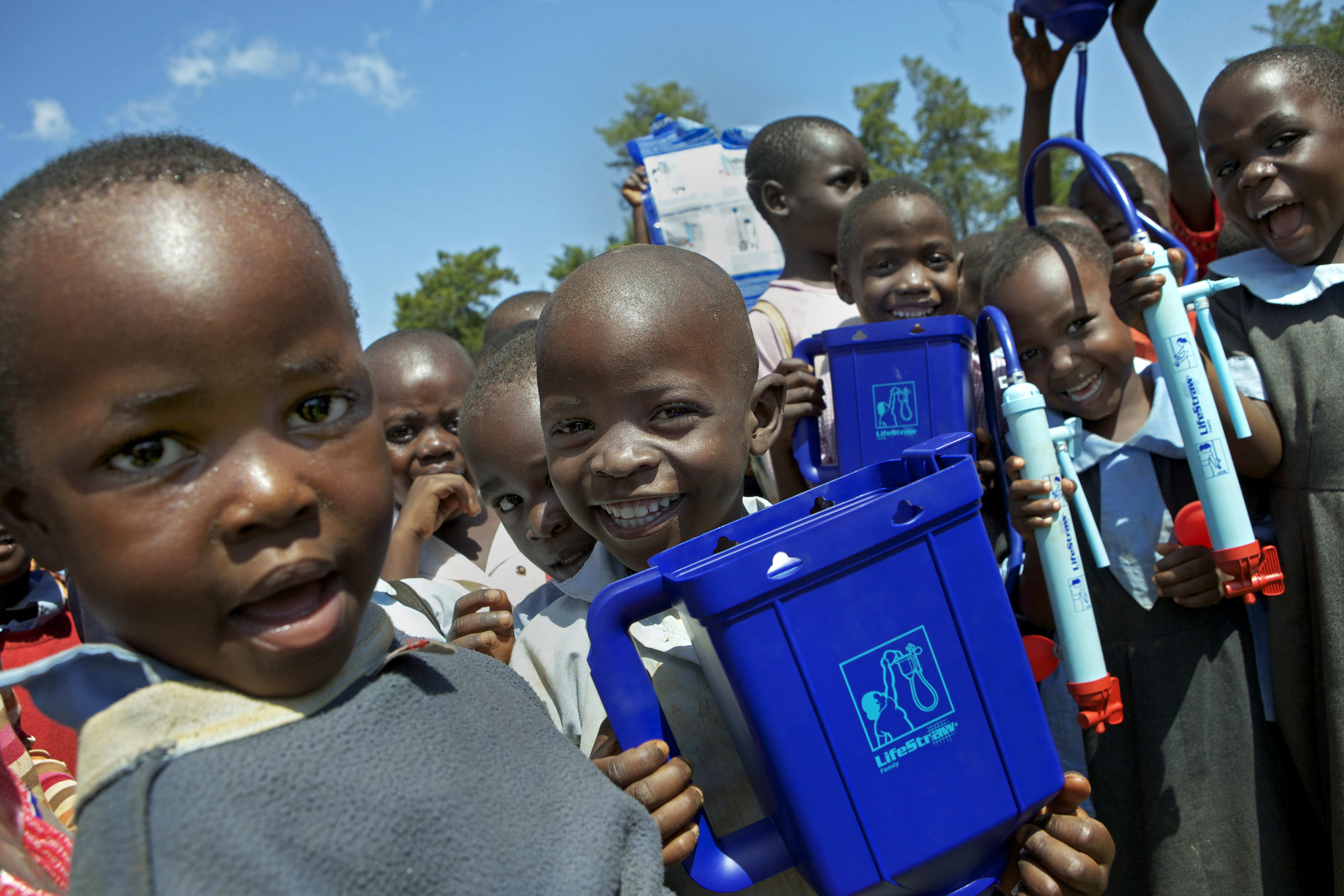 Kenya LifeStraw Project - children